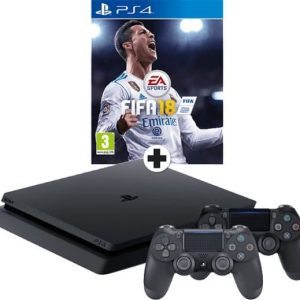 Sony PlayStation 4 Slim 1TB + FIFA 18 + tweede controller